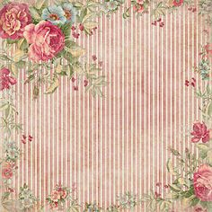 chariji   Roses on striped background