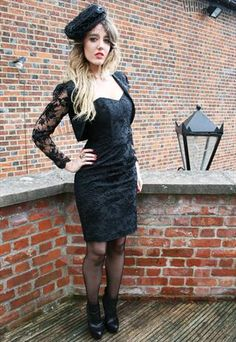 Black Fitted Bodycon Lace Cocktail Mini Summer Dress