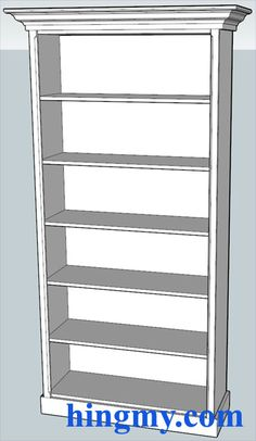 How to build a simple bookcase - I think I might just buy some crown molding and pretty-fy my bookcases....