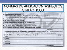 NORMAS DE APLICACIÓN: ASPECTOS  SINTÁCTICOS