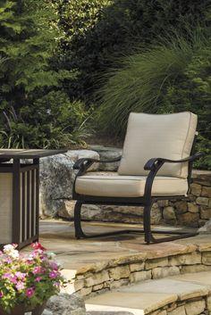 Partanna Blue Beige Motion Lounge Chair 2 CN