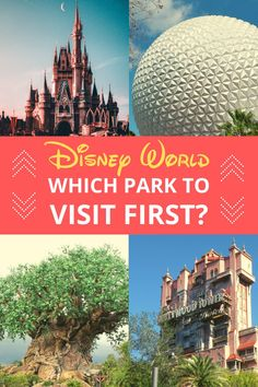 You might be planning your first Disney World vacation, or even your second or third and one decision can sometimes seem a little tricky. Which Park Should I Go to First at Disney World? Disney World Water Parks, Disney World Guide, Disney World Packing, Disney World Vacation Planning, Disney Planning, Disney Travel, Disney World Tips And Tricks, Disney Tips, Disney World Resorts