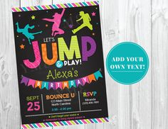 Jump birthday invitation trampoline party invite bounce house jump birthday invitation trampoline party invite bounce house birthday invitations instant download stopboris Gallery