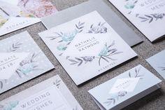 #trouwhuisstijl #vintage #trouwkaart # hipdesign #ruit #bloemen