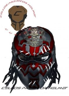 PREDATOR HELMET MOTORCYCLE STYLE DOT APPROVED #CELLOS