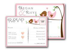 Lovebirds Wedding Invitation Love Birds Wedding, Quirky Wedding, Wedding Stationery, Wedding Invitations, Wedding Bride, Wedding Ideas, Invites, Rsvp, Craft Projects