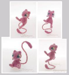 Miniature Mew - Needle fleting by Piquipauparro.deviantart.com on @deviantART