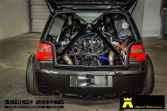 VW Golf With A Twin-turbo Lamborghini V10 | Engine Swap Depot