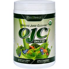 OJC-Purity Products Organic Juice Cleanse - Certified Organic - Daily Super Food - Apple Surprise - 8.47 oz - Supports the Bodys Ability to Cleanse* Promotes Vitality, Energy and Digestive Function* New Label - Same Great Formula. Over 25 Certified Organic Veggies & Super Fruits!Juicing Without the Hassle! If you have trouble getting the recommended 5-9 servings of fruit and veggies every day then, Organic Juice Cleanse can provide your body with a quick and potent shot of healthy…