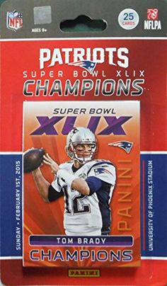 New England Patriots 2014 Panini Super Bowl XLIX Champions Limited Edition Factory Sealed 25 Card Team Set with First Malcolm Butler Rookie Year Card 3 Tom Brady Cards Super Bowl Moments Cards and More >>> For more information, visit image link.