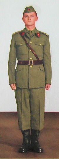 1959 pattern Czechoslovak People's Army (ČSLA) officers' summer field uniform.