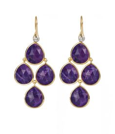 Henri Bendel Henri Rocks Purple Agate Chandelier earrings