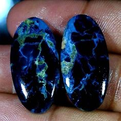 40.55Ct Natural Pietersite Oval Cabochon Royal Matched Pair For Earring Gemstone #Handmade