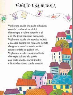 Voglio una scuola Beginning Of School, Going Back To School, Primary School, Italian Vocabulary, Italian Lessons, Nursery School, School Worksheets, Italian Language, Class Projects
