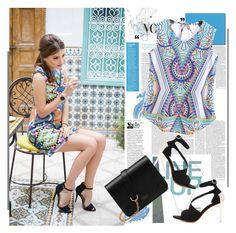 """Tribal Print Dress - Shein.com 7/7"" by bebushkaj ❤ liked on Polyvore featuring Mulberry"