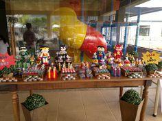 Decoração de festa infantil - Liga da Justiça