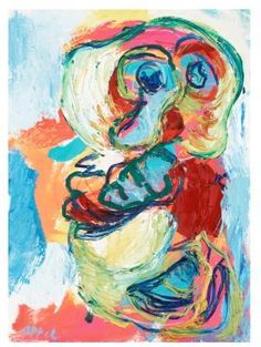 Karel Appel `BLUE BOY` Canvas Art Print
