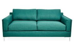 "Adams 74"" Sofa, Emerald"