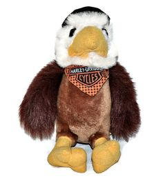 HARLEY DAVIDSON Plush Bald Eagle Stuffed Animal with Hat & Scarf Motor Cycles | eBay