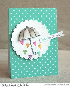 Rain Rain Go Away by Jenn Shurkus using brand New Simon Says Stamp from the Hop To It Release.