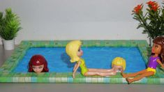 Como fazer piscina para boneca Barbie, Polly, Monster High, Frozen e outras