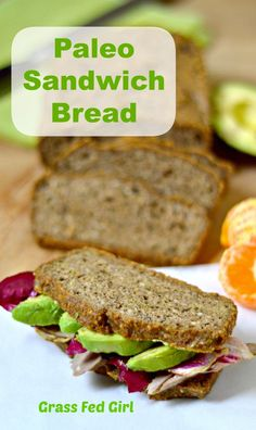 """No wheat bread - wheat free bread - grain free bread  #paleo Grain Free Sandwich Bread:  """"6 pastured eggs; ¼ tsp stevia powder extract or 2 tbsp honey; ¼ cup coconut oil, melted; ½ tsp coconut vinegar (or apple cider vinegar); 1 cup cashew meal; 1/4 cup ground chia; 3 tbsp coconut flour, sifted; 1 tsp baking soda; ½ tsp sea salt"""" link"""
