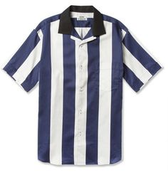 ACNE Oahu Striped Short-Sleeved Cotten Shirt. $380.