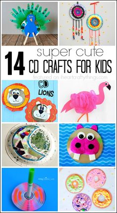 Whip out those old scratched CD's and make some of these 14 Super Cute CD Crafts for Kids