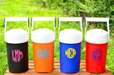 Personalized Igloo Sports Cooler, Personalized Water Jug by DownSouthMonogram on Etsy