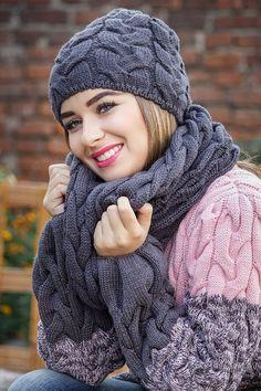* * Janie Hat e colar lenço tranças largas - Perchinka63