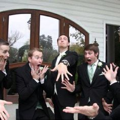 This is so funny but would be such a great picture in a wedding album!