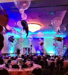 Under the Sea balloon ballroom decor
