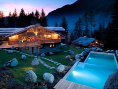 Chalet Amazon Creek, in the Les Bossons area of France's Chamonix Valley, is perfect for holing up with your closest pals for some serious communal chill. It features 5 spacious bedrooms, steam and cinema rooms. Take a look at this French Getaway!