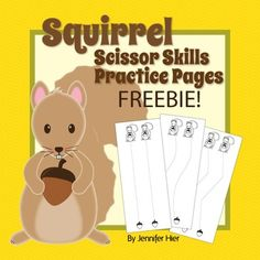 Practice scissor skills/cutting skills with these squirrel cutting pages.  Great for OT and fall fine motor fun!