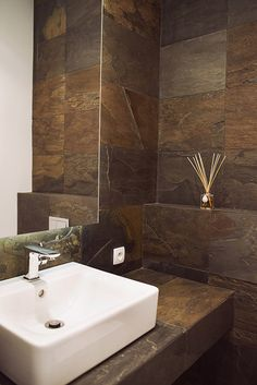 Łupek California Gold #stone #bathroom #slate #california #gold #łupek