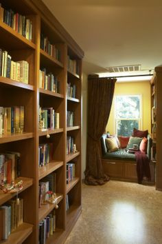 Love the big, heavy-duty bookcases. Not only are they of great quality materials (or so it seems), but the shelf height is adjustable.