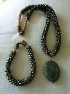 Beautiful Kumihimo Beaded Necklace