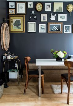 15 Narrow Dining Tables for Small Spaces (Gallery Ideas) Narrow Dining Tables, Mirrored Side Tables, Dining Area, Narrow Bench, Dining Chair, Table For Small Space, Small Spaces, Modern Scandinavian Interior, Urban Cottage