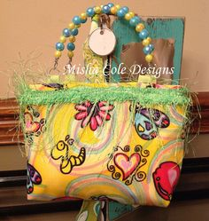 Butterfly and Heart Purse Misha Cole Designs by mishacoledesigns, $10.00