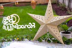 Available in three colors and two sizes, these cutout star paper lanterns expand to reveal their shape and cut outs, plus, they're easily collapsible for storage when not in use! Swipe to see all three color options. #daysofeid