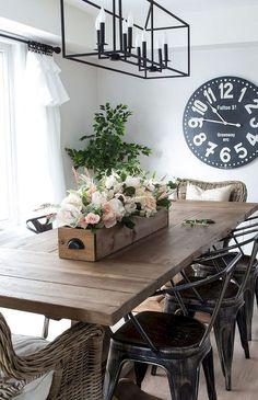 60 Farmhouse Style Dining Room Decor Ideas