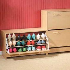 sapateira com sapatos Móveis funcionais para apartamentos pequenos