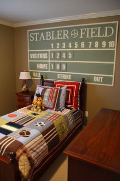 Diy Baseball Field Rug For Baseball Lovers Room Went To