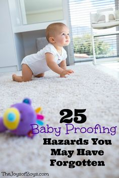 Kids Safety 25 Baby Proofing Hazards You May Have Forgotten - The Joys of Boys - Even an experienced parent can forget certain hazards when baby proofing your house. Keep baby safe with these easy baby proofing tips. Baby Boy, Our Baby, Baby Girls, Parents, Baby Supplies, After Baby, Baby Health, Everything Baby, Baby Safety