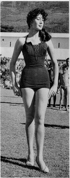 Contestant from a 1959 Junior Miss beauty contest in South Africa by Katrinka Sweaters, via Flickr (view original size on Flickr!)