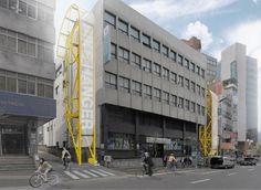 Le concept de parking à vélos vertical Bike Hanger