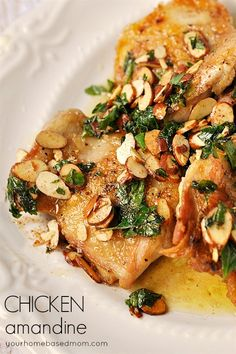 Chicken Amandine - dinner in under 15 minutes