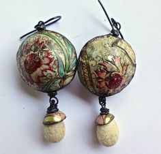 Hollow rustic tin earrings by pipnmolly on Etsy