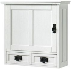 """Artisan Wall Cabinet With Wood Door, 22.75""""Hx23.5""""W, WHITE Home Decorators Collection http://www.amazon.com/dp/B008445874/ref=cm_sw_r_pi_dp_ey4Qtb0DFWG52CYY"""