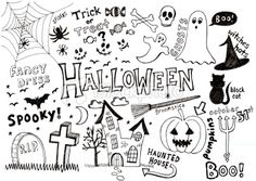 Halloween doodles Royalty Free Stock Vector Art Illustration